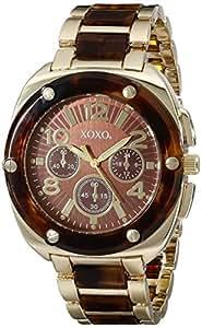 Xoxo women 39 s xo5644 gold tortoise bracelet analog watch watches for Watches xoxo
