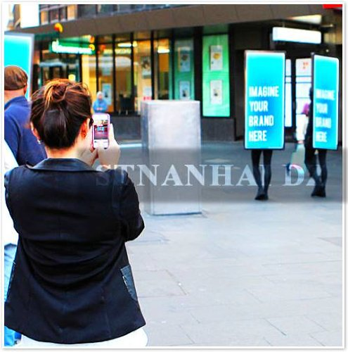 Stnanhai New Arrival Style,Indoor/Outdoor Promotional Advertising Sign,Walking Mini Battery Operated For Exhibition
