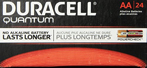 Duracell Quantum QU1500BKD09 Alkaline-Manganese Dioxide AA Battery, 1.5V, -4 to 130 Degrees F (Pack of 24) (24 Battery compare prices)
