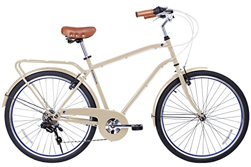 Gama Bikes Men's City 6 Speed Shimano Hybrid Urban Commuter Road Bicycle, 26-inch wheels 0