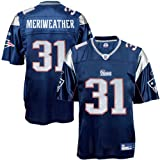 Brandon Meriweather Jersey: Reebok Navy Replica #31 New England Patriots Jersey - X-Large