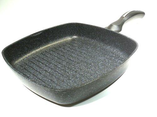 Ceramic Marble Coated Cast Aluminium Non Stick Square Grill Pan Skillet 28Cm(11 Inches)