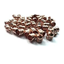 buy Pack Of 30 X Rose Gold Plated Brass 6 X 9Mm Kumihimo Bell-Shape End Caps - (Ha11890) - Charming Beads