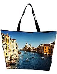 Snoogg Abstract City Designer Waterproof Bag Made Of High Strength Nylon - B01I1KJJWA