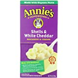 Annie's Homegrown Shells & White Cheddar Macaroni & Cheese, 6-Ounce Boxes (Pack of 12)