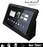 Bear Motion ® 100% Real Leather Case for For Motorola Xoom 10.1 inch tablet (3G & 4G WI-FI 16 GB 32 GB 64 GB) - Xoom Case Google Android 3.0 Honeycomb Black (NOT Compatible with XOOM Family and XOOM 2)