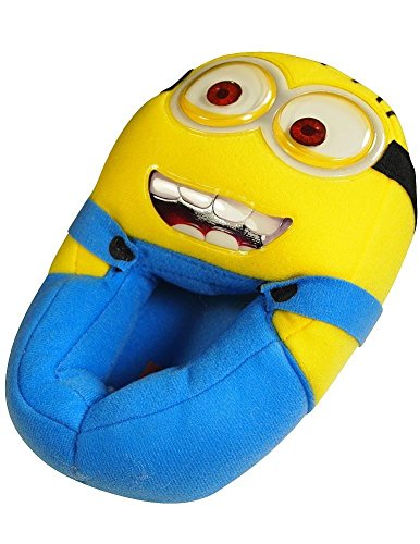 Despicable Me - Boys Despicable Me Slippers, Yellow, Blue 35977-XL4-5 (Despicable Me Shoes)