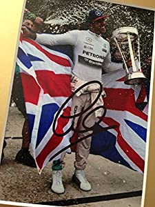 Limited Edition Lewis Hamilton Signed Photo Display + Cert Formula One F1 Printed Autograph Signature Signed Signiert Autogramm by GIFTEDBOX