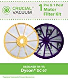 Dyson DC07 HEPA Filter Kit - Washable Pre & Post Motor Filters, Designed & Engineered by Crucial Vacuum