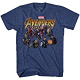 Marvel Avengers Infinty War Team Circles Mens Graphic T-Shirt (XXXL, Heather Navy)