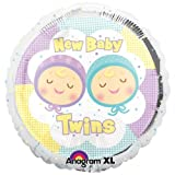 Baby Shower New Baby Twins Foil Balloon