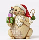 """Jim Shore for Enesco Heartwood Creek Lazy and Lovable Christmas Cat Figurine, 5"""""""