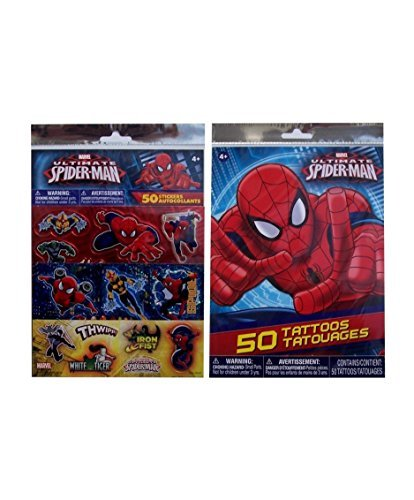 Spiderman Stickers & Temporary Tattoos Pack