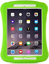 iXCC ® Shockproof Silicone Case Cover for All Apple iPad Air Models, Extreme Heavy Duty [Drop Proof, Kids Proof, Shock Proof, Anti slip] High Quality Rubber Soft Gel Material Offers Robust Protection for Kids, Baby, Children, Boys and Girls [Green]
