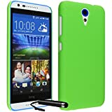 Ownstyle4you Protective Hard Case Cover for HTC Desire 620 incl. Screenguard & Touchpen Crystal Case Green