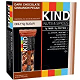 Kind Nut & Spice Bar Dark Chocolate Cinnamon Pecan 40 g (Pack of 12)