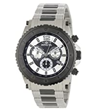 Invicta Specialty Men's Quartz Watch with Silver Dial Chronograph Display and Grey Stainless Steel Bracelet 1010