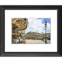 Framed Print of Merry go round on Allees de Tourny looking towards the National Opera House
