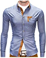 BetterStylz Franco Hemd Slim Fit Langarmhemd 4 stylische Farben (M-XL)