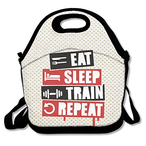 Amurder Eat Sleep Train Repeat Insulated Personalized Tote Lunch Food Bag Black (Grand Budapest Hotel Journal compare prices)