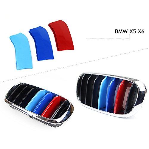newsun-3d-m-car-styling-front-grill-trim-strips-sticker-for-bmw-3-4-5-5gt-series-x1-x3-x4-x5-x6-f10-