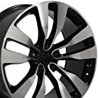 20-inch Fits Dodge - Charger Aftermarket Wheel - Black Machined Face 20x10 - REAR FITMENT ONLY