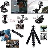 Erligpowht Accessories Bundle kit for sj4000 / sj5000 cameras and GoPro Hero 3 2 1 4 3+ (27 Items)