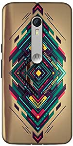 Snoogg Spiral Zoyd Designer Protective Back Case Cover For Motorola Moto X Style