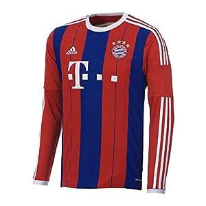 adidas Bayern Munich 2014-15 Offcial Home Soccer Jersey Long Sleeve (2XL)