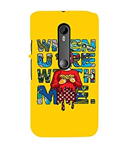 Ebby Premium Printed Mobile Back Case Cover With Full protection For Moto X Play (Designer Case)