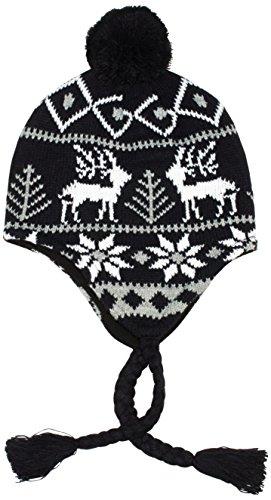 Urban Classics - Wintermütze Norwegian Beanie 2, Cappello Unisex - Adulto, Multicolore (Black/Gray/White), Taglia unica (Taglia Produttore: One Size)