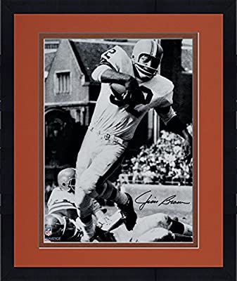 "Framed Jim Brown Cleveland Browns Autographed 16"" x 20"" Vertical in White Photograph - Fanatics Authentic Certified"