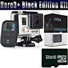 GoPro HERO3+ HERO 3 PLUS Black Edition + GoPro LCD Touch BacPac + 32GB MicroSDHC Memory Card Bundle Kit