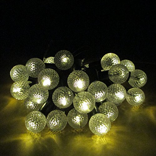 Globe String Lights Solar : E Light Warm White Globe String Lights Solar Powered 30 LED Christmas Lights New eBay