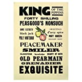 King of The Pippins Letterpress Poster||RF20F||RLCTB