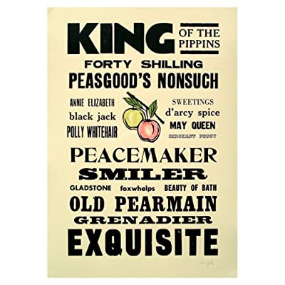 King of The Pippins Letterpress Poster||RLCTB