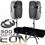 "2 JBL EON315 EON 315 15"" Powered PA Speaker Mobile KIT"