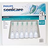 Philips Sonicare HX7026 Elite E-series Standard Replacement Brush Heads, 6 Pack
