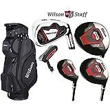 Wilson Prostaff HL Mens Complete Golf Club Set & 2015 Prosaff Black Cart Bag All Graphite Right Hand