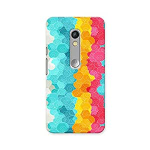 ArtzFolio Color Circle : Motorola Moto X Play Matte Polycarbonate ORIGINAL BRANDED Mobile Cell Phone Protective BACK CASE COVER Protector : BEST DESIGNER Hard Shockproof Scratch-Proof Accessories