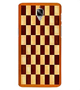 ColourCraft Chess Board Design Back Case Cover for OnePlus Three