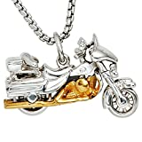 Remorque moto 925 en argent rhodié plaqué or