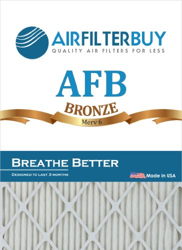 AirFilterBuy Afb Bronze 22x22x1 (actual Size) Pleated Furnace Filter (merv 6) (2 Pack)