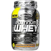 2-Pack MuscleTech 100% Platinum Whey Chocolate Peanut Butter Cup, 2 lbs (910g)