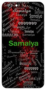Samalya (Garlanded) Name & Sign Printed All over customize & Personalized!! Protective back cover for your Smart Phone : Moto G-4-Plus
