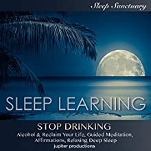 Stop Drinking Alcohol & Reclaim Your Life: Sleep Learning, Guided Meditation, Affirmations, Relaxing Deep Sleep Speech by  Jupiter Productions Narrated by Kev Thompson