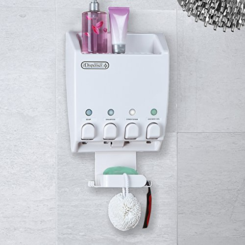 better living products dispenser shower caddy four