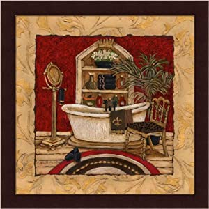 New orleans spa luxe ii by charlene olson gold for Bathroom art amazon