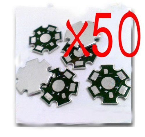 Hobbypower High Power 1W/3W Led Heat Sink Aluminum Base Plate(Pack Of 50 Pcs)