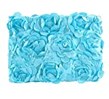 Ubesta Fashion recién nacido 3d fotografía Photo Props rosas fondo manta rug-blue
